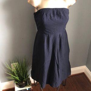 J.Crew Blue Strapless Summer Dress